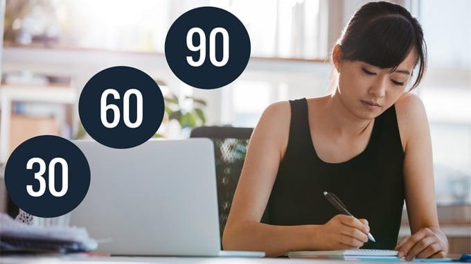 90 days career plan